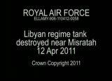 حمله هوایی ناتو به یک مخزن سوخت در لیبی