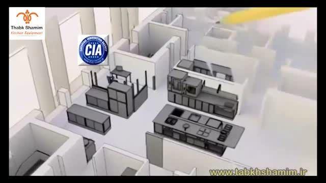 آشپزخانه صنعتی سه بعدی