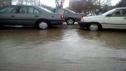 آب گرفتگی معابر بروجرد15اسفند91در اثر بارش شدید باران