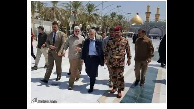 تصویرجدید سردار سلیمانی در کربلا بین الحرمین-عراق-سوریه