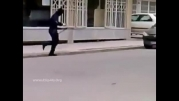 کلیپ سرقت مسلحانه از بانک ملت شعبه دانش آموز در مشهد