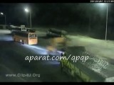 تصادف یک کامیون هوو ترمز بریده با اتوبوس