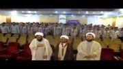 خواندن سرود رسمی نهضت پیشاهنگان هلال احمر در حضور فرمانده نهضت جناب آقای منیری