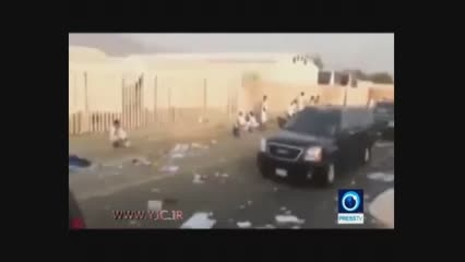 لحظه عبور کاروان پسر پادشاه عربستان در حادثه منا + فیلم