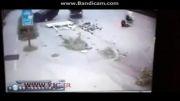 پرت شدن سرنشین ماشین هنگام تصادف