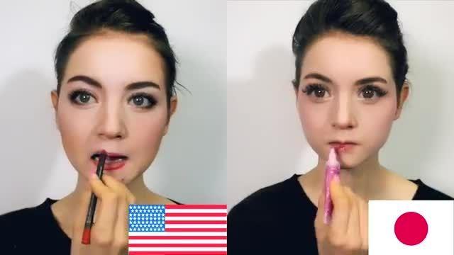 آرایش آمریکایی VS ژاپنی