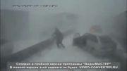 تصادف وحشتناک کامیون در مه شدید