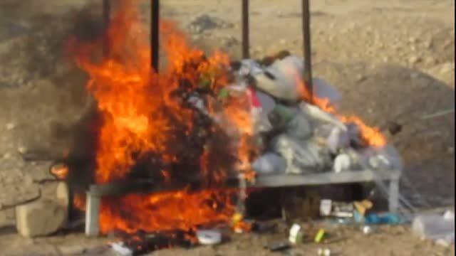 آتش زدن 750 کیلو مواد مخدر در اندیمشک