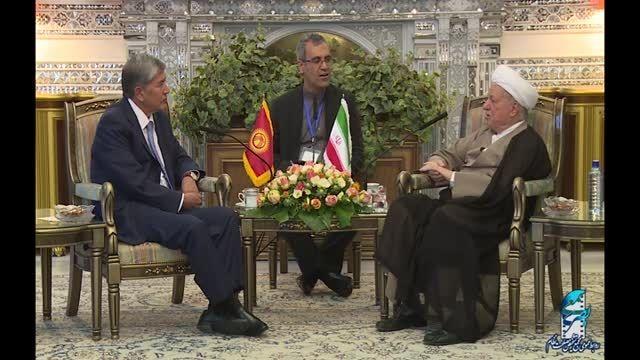 دیدار رئیس جمهور قرقیزستان با آیت الله هاشمی رفسنجانی
