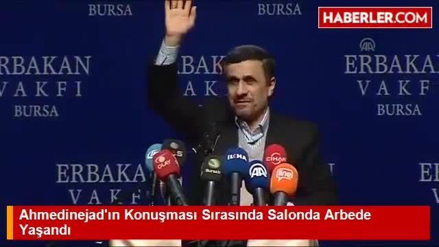 تلاش برای بر هم زدن سخنرانی احمدی نژاد در ترکیه