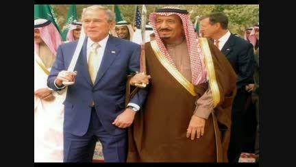 تصویر پادشاه جدید عربستان در کنار بوش
