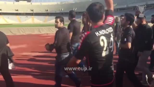 مراسم عزاداری تشییع پیکر هادی نوروزی در ورزشگاه آزادی