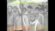 اجرای مراسم صبحگاه و سخنرانی یکی از روحانیون در منطقه برای نیروهای زنجانی