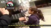 استفاده تروریست ها از دختر بچه به عنوان سپر انسانی