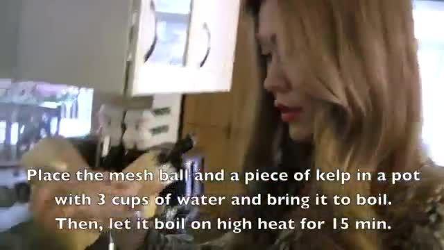 طرز تهیه پیش غذای کره ای دنجان جیگه(سوپ سس سویا)