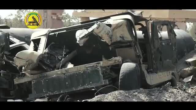 تجهیزات داعش در آتش خشم نیروهای مردمی خاکستر شد