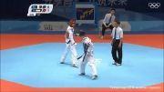 مهدی اسهاقی و فرانسه - مسابقه نیمه نهایی المپیک 2014چین