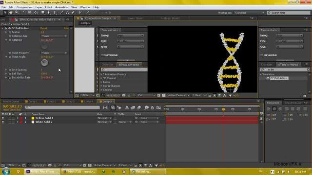 آموزش افترافکت فارسی ۳۸ ✿ ساخت یک مدل DNA متحرک