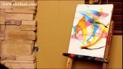 نقاشی یک سگ هنرمند