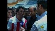 گزارش بازی فوتبال خداداد عزیزی بنفع زندانیان غیرعمد نیشابور