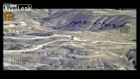 شلیک های زیبا جنگنده عراق بر سر داعش در صلاح الدین