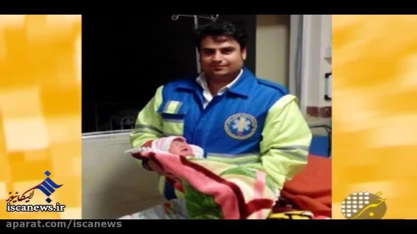نجات دو مادر باردار گرفتار در برف رزن