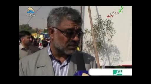 حضور شهردار و رئیس شورا در راهپیمایی 22 بهمن