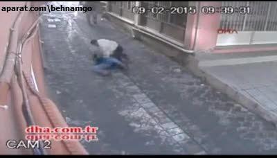 چاقوکشی خونین زن و شوهر در خیابان..!