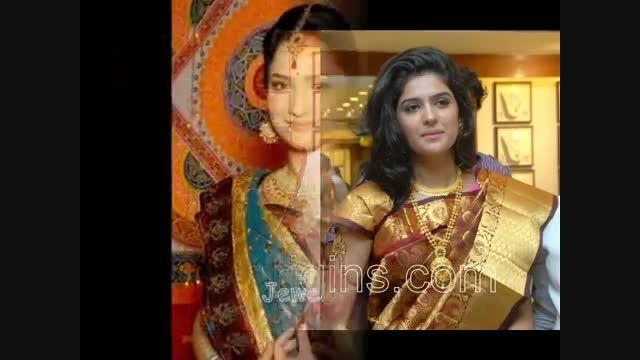 ست جواهرات طلایی عروس هندی