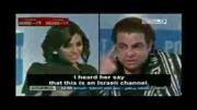 کتک زدن مجری زن اسرائیلی توسط یک کمدین معروف مصری در برنامه