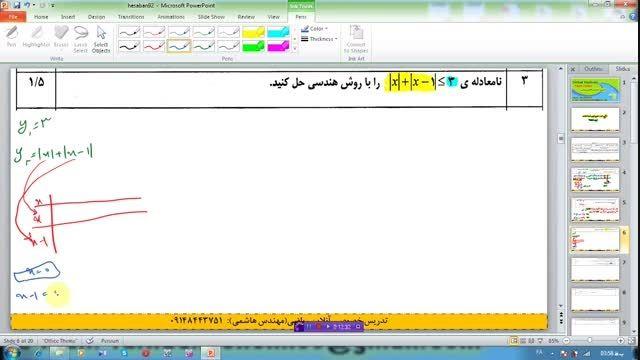 فیلم حل پویای سوالات امتحانات نهایی حسابان خرداد92