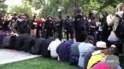استفاده پلیس آمریکا از گاز فلفل