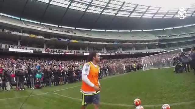 تصاویر دیدنی تمرینات رئال مادرید با تصویربرداری گرت بیل