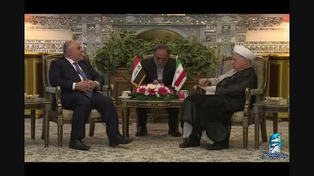 دیدار حیدر العبادی، نخست وزیر عراق با آیت الله هاشمی