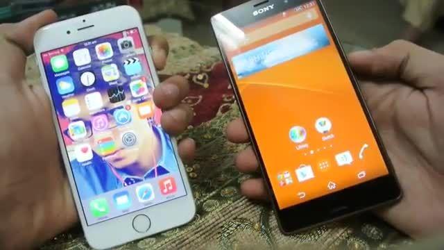 سرعت Xperia z3 در برابر iPhone 6
