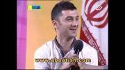 """آواز خواندن"""" فرهاد ظریف"""" بازیکن تیم ملی والیبال"""