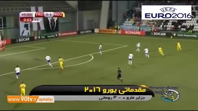 نتایج بازی های دیشب انتخابی یورو ۲۰۱۶ (۹۴/۰۷/۲۰)