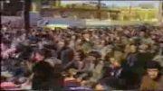 سخنرانی  مرحوم آیت الله موسوی امام جمعه زنجان در بین رزمندگان ، رژه رزمندها از مقابل امام جمعه ، قرائت دعای توسل به صورت