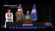 قرآن خواندن درمقابل اوباما