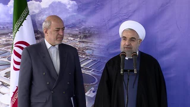 مراسم افتتاح فاز پنج و شش تصفیه خانه فاضلاب جنوب تهران