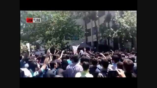 فیلم حاشیه های ورود هاشمی رفسنجانی به دانشگاه امیرکبیر