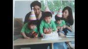 عکس جومونگ در کنار همسر و سه قلوهایشان :))
