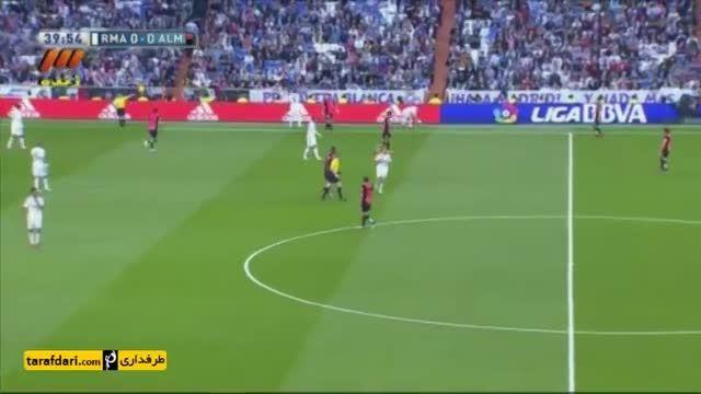 پرتاب همزمان دو اوت در مسابقه فوتبال اسپانیا(جالبه)