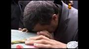 حضور سر زده دکتر احمدی نژاد در تشییع شهدای گمنام