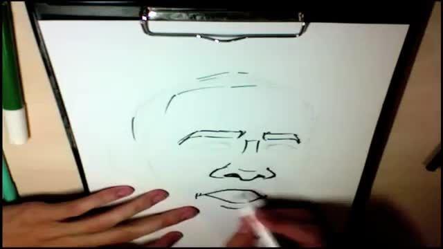 آموزش طراحی کاریکاتور 26 (طراحی کاریکاتور اوباما)4