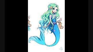 شخصیت های کارتونی به شکل پری دریایی