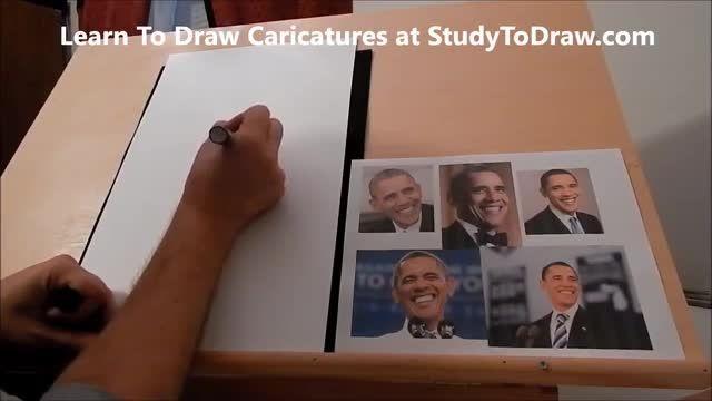 آموزش طراحی کاریکاتور 23 (طراحی کاریکاتور اوباما)1
