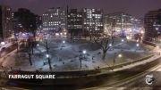 تایم لپس بسیار زیبا از برف زمستانی-کیفیت HD
