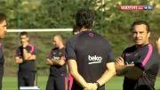 تمرینات تیم بارسلونا در نیوکمپ ..........