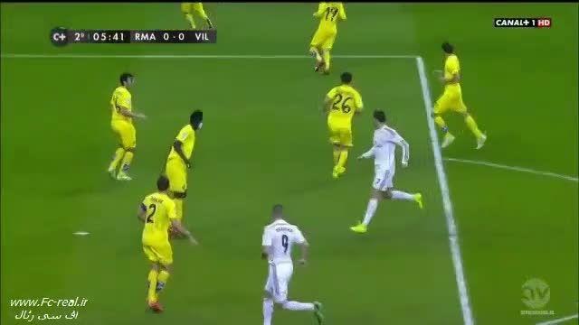 رئال مادرید 1-1 ویارئال - گل های بازی